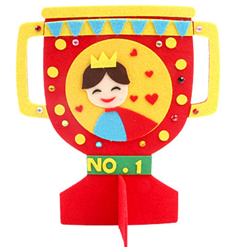 DIY Non Woven Fabric Toys craft Toys Novelty DIY Trophy Children Manual Handmade For Father 39 s Day in Craft Toys from Toys amp Hobbies