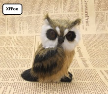 10 pieces a lot simulation cute brown owl models polyethylene&fur real life left dolls gift about 10cm xf1012