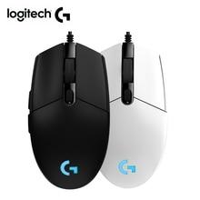 Logitech mouse PRODÍGIO G102 gaming mouse com 8000 DPI Novo logitech com fio do mouse para DOTA overwatch PUBG LOL rato gamer