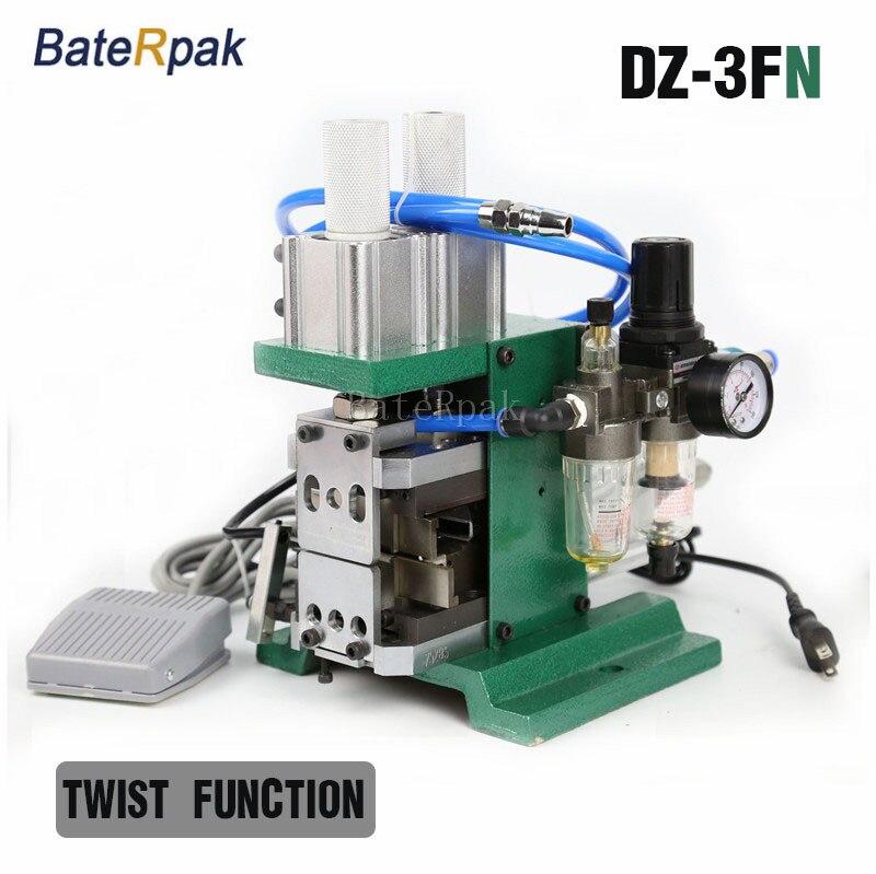 Máquina peladora de cables neumática BateRpak DZ-3FN, máquina peladora de plasitc de alambre, pelacables retorcido, con función de giro, 110 / 220V