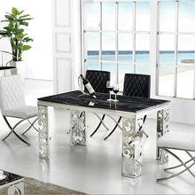 Набор для столовой из нержавеющей стали, мебель для дома, минималистичный современный мраморный обеденный стол и 6 стульев, обеденный стол mesa muebles comedor