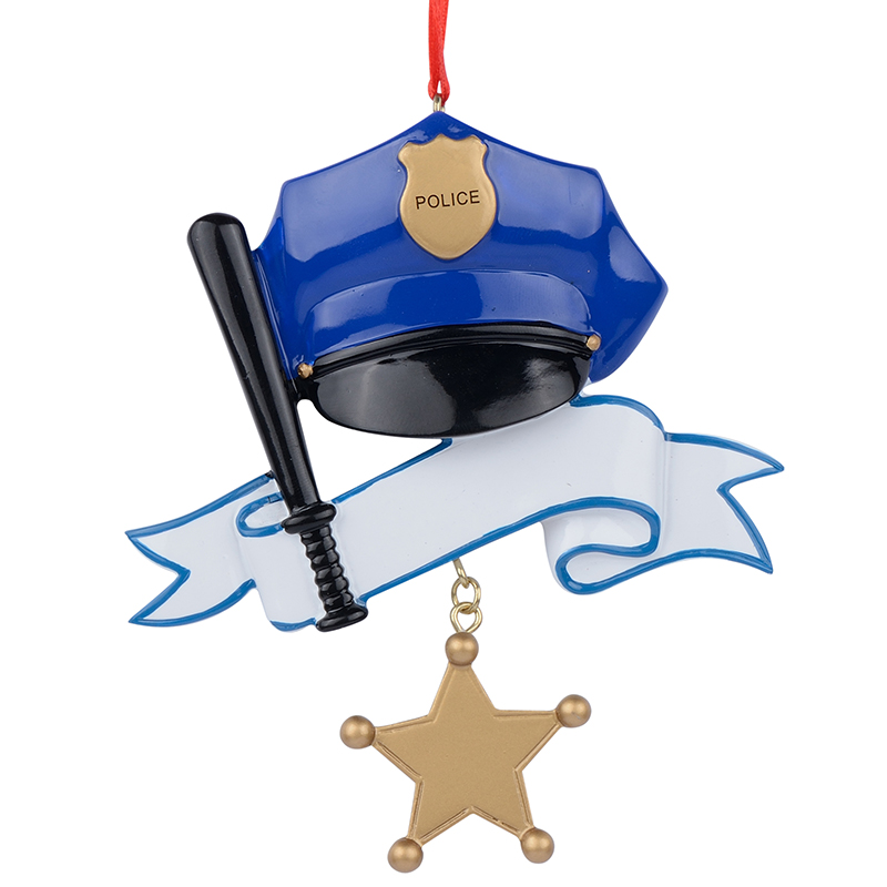 Police Christmas Ornaments.Us 12 59 Wholesale Police Personalized Polyresin Christmas Ornament As For Holiday Police Day Gifts In Pendant Drop Ornaments From Home Garden