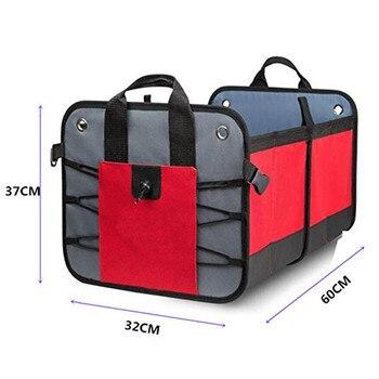 Автомобильный органайзер для багажника, сверхмощная конструкция для автомобиля, внедорожника, грузовика, микроавтобуса, RV, ящик для хранен...