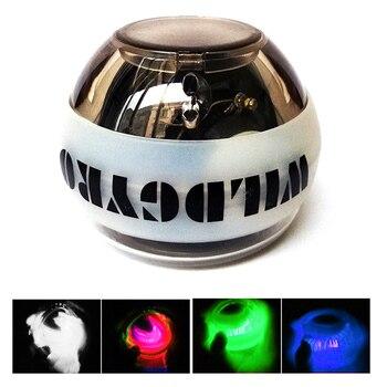 Giroscopio Bola de fuerza de potencia Gyro LED Luz de muñeca brazo de brazo ejercitador fuerza muscular entrenamiento Dropshipping