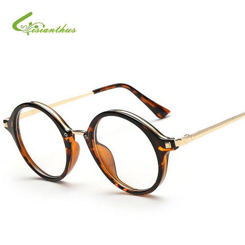 05682658de3 Fashion 2019 New Women Glasses Frame Plain Mirror Big Round Metal Optical  Frame Men Women Eyeglass Clear Lens Circle Glasses