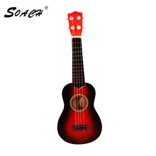 SOACH high quality bass acoustic guitar 21in wood ukulele guitar 4 chord playing children beginner practice musical instrument