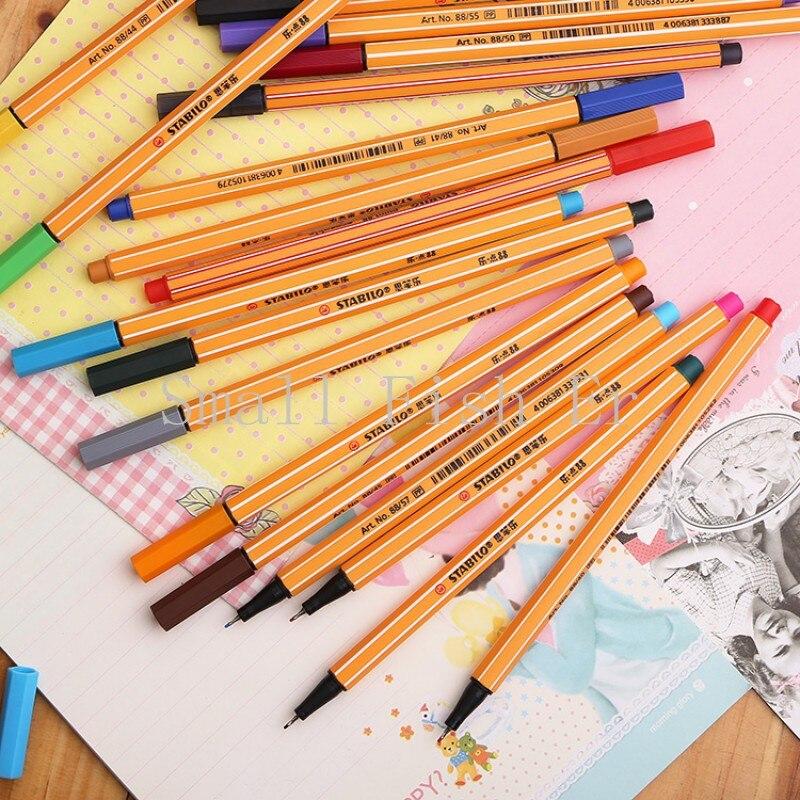 25pcs Germany STABILO Stabilo fiber pen swan 88 fiber pen Stabilo Sketch pen 0.4mm colored gel pen office school supplies