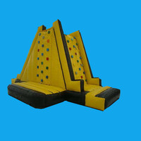 Sport game inflatable rock wall climbing with air blower inflatable jumping bouncer Trampoline inflatable climbing