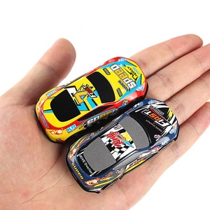 Image 5 - Ensemble de Mini voiture de dessin animé, 6 pièces/ensemble, voitures en alliage, véhicules, jouets de poche pour enfants, modèle pour chambre denfant, cadeau