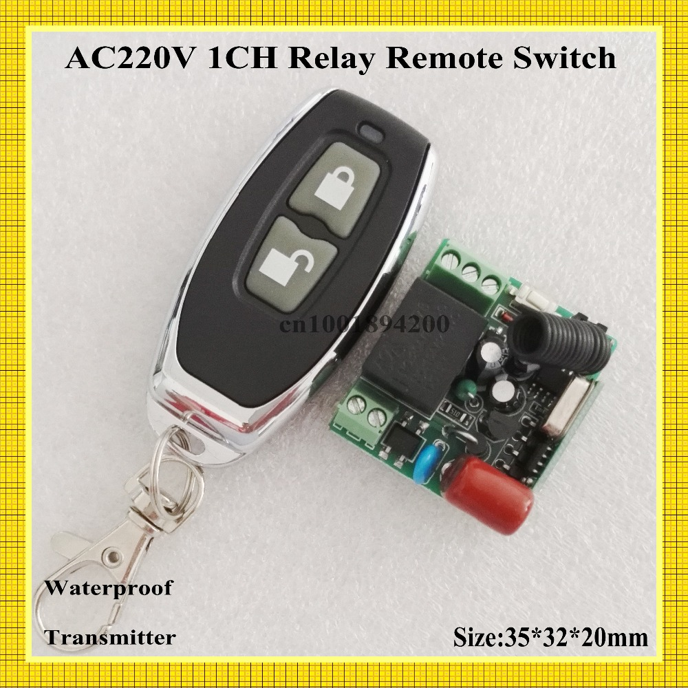 все цены на  AC 220V 1 Way Relay Wireless Switch 315/433 Normally Open Closed RF Receiver Contact Relay Smart Home Remote Controller Mini Siz  онлайн