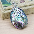 L055  Hot ! Fashion colour abalone puzzle seashells crafts plants pendant,Fit beautiful women jewelry DIY making Exquisite gift