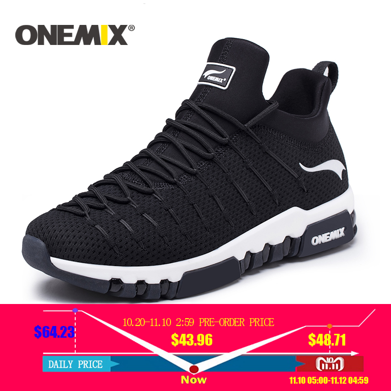 Onemix 2018 new running shoes for men hight sneakers outdoor trekking for women breathable sneakers walking running shoes men umbro men 2018 new spring breathable running shoes for men sneakers ui181ft0201