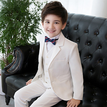 High Quality white kids suits boys blazers children flat solid school uniform flower boy suit clothes for wedding party costume