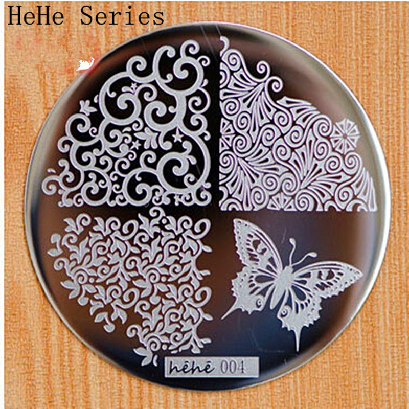 Cut Butterfly Cvjetni uzorak - Manikura