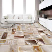 Colorful shells inlaid art 3D floor living room bathroom bathroom waterproof self-adhesive wallpaper paper stickers wallpaper 3D customized 3d wallpaper 3d floor painting wallpaper flame 3d bathroom floor tile in a sitting room 3d living room photo wallpaer