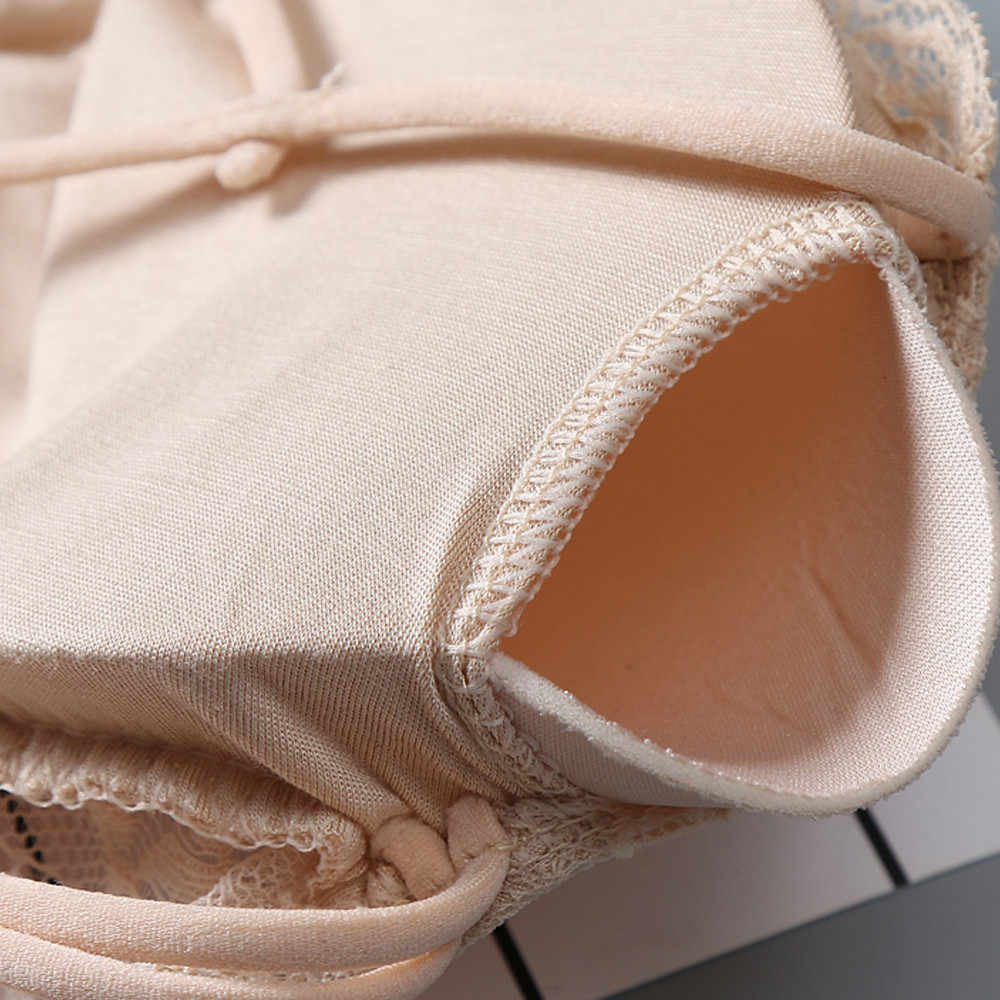 Gratis Size Vrouwen Sexy Stijlvolle Vlechten Hebben Borst Pad Casual Dragen dagelijks Effen materialen dragen fashion design Ondergoed #4