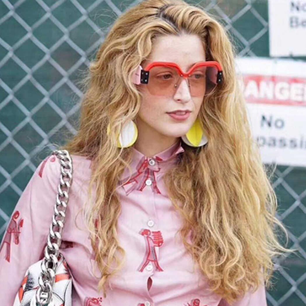 d95264c82fae ... 2018 Luxury Brand Sunglasses Women Oversized Big Square Half Frame Sun Glasses  Fashion Retro Female Sunglass ...