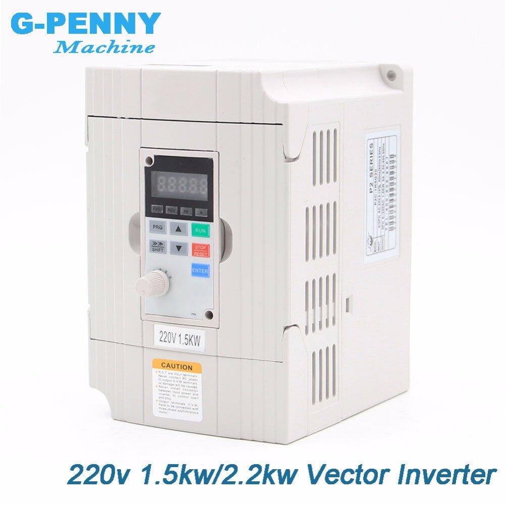 Бесплатная доставка! 220 В в 1.5kw вектор Inveter 2.2kw VFD преобразователь частоты переменной частоты привод двигатель скорость управление