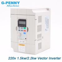 Free Shipping! 220v 1.5kw vector Inveter 2.2kw VFD inverter Frequency Converter Variable Frequency Drive Motor Speed Control