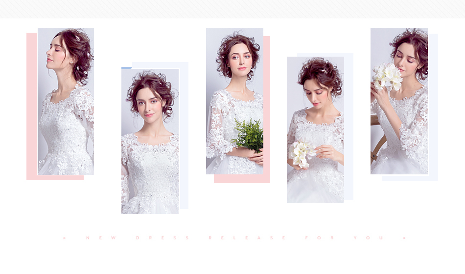 Angel Wedding Dress Marriage Bride Bridal Gown Vestido De Noiva 2017 Boat Neck horn sleeve, big tail 6910 2