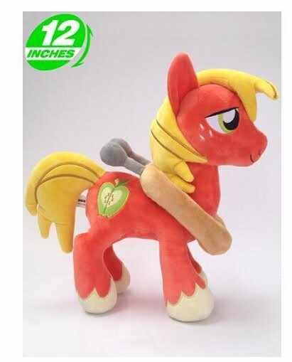 """יפה בפלאש בובת צעצוע חמוד ממולא סוס סוס אדום גדול מקינטוש מתנת בובת צעצוע צעצוע על 32 ס""""מ 0053"""