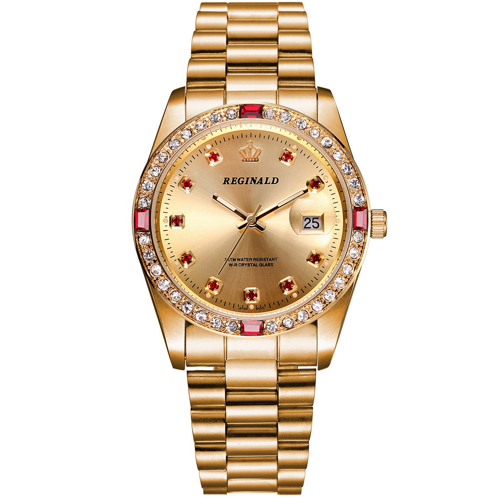 2016 Luxury Brand Womens Wrist Watch Gold Quartz Watch ...