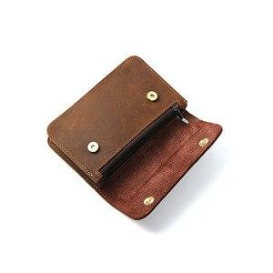 Image 2 - الرجال حقيبة مستندات صغيرة جلد طبيعي جلد البقر حقيبة مستندات صغيرة s ملف حامل للأعمال السفر حقيبة أدوات ألومنيوم محمولة