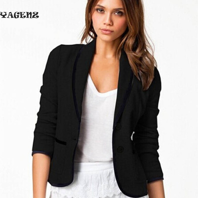 Dames Korte Winterjas.Vrouwen Korte Jas Jassen Office Dames Blazer Zwart Grijs Big Size