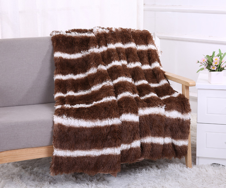New Blankets 160*200/130*160cm Super Soft Long Shaggy Fuzzy Fur Faux Warm Elegant Cozy With Fluffy Sherpa Throw Plaids Bedspread