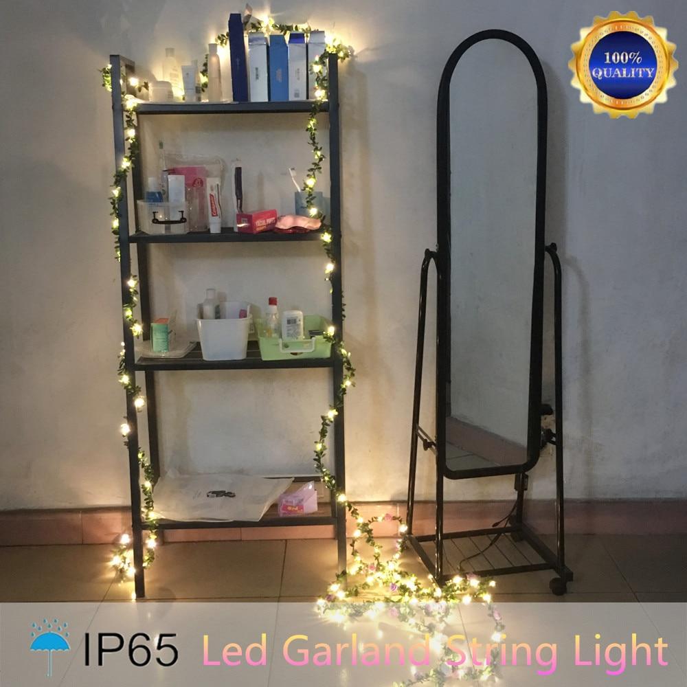 IP65 Χειροποίητο 5M 50 LED φύλλο γιρλάντα - Φωτισμός διακοπών - Φωτογραφία 6