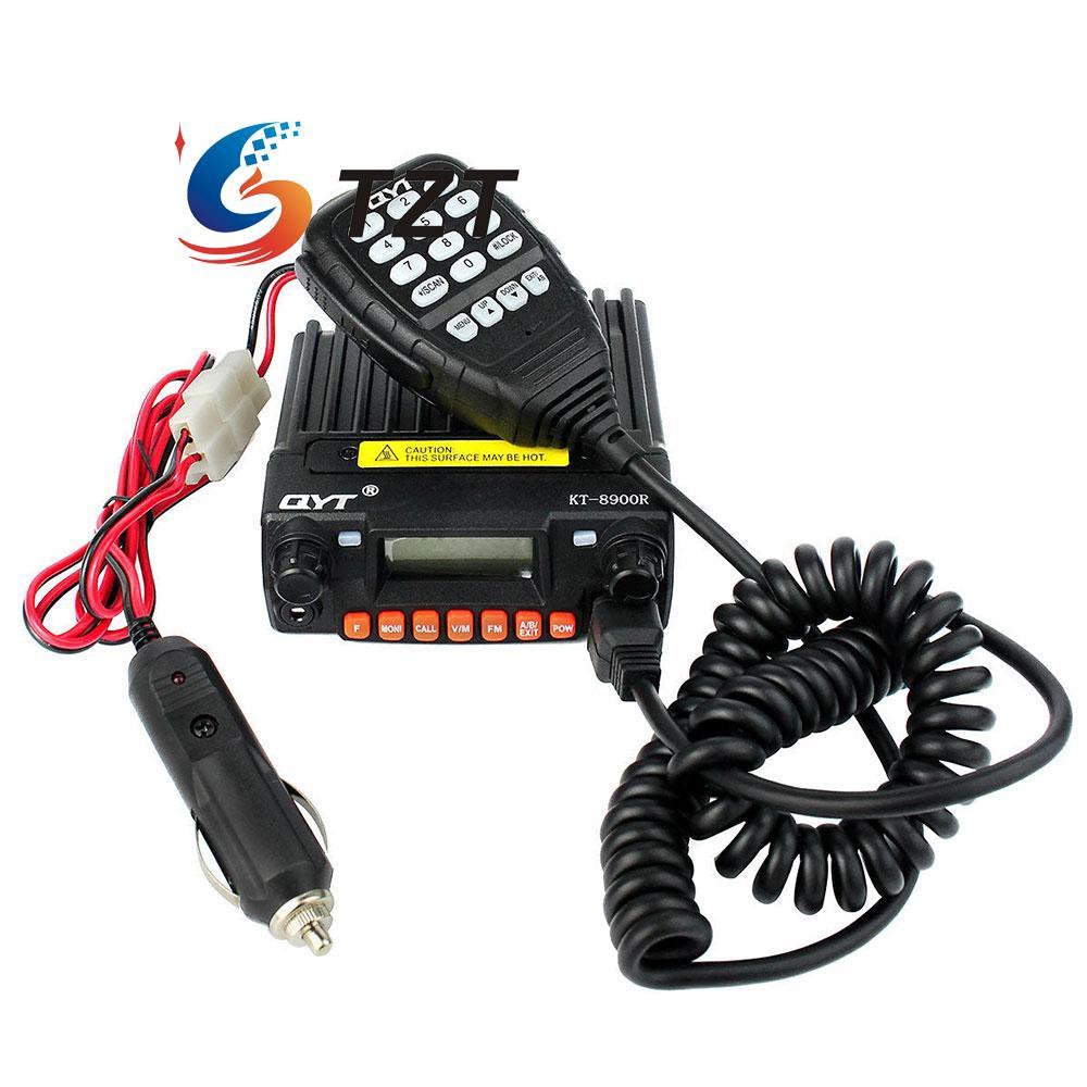 цена QYT KT-8900R Walkie Talkie Tri Band UHF VHF 25W Car Trunk Ham FM Mobile Radio Transceiver онлайн в 2017 году