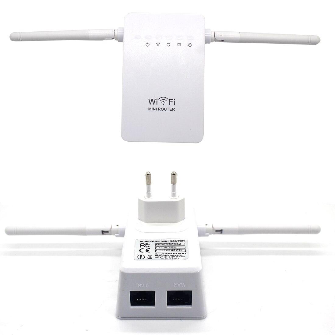 NOYOKERE Dual antenna 300Mbps Wifi Repeater Wireless Range Extender 802.11N Booster Signal Amplifier wlan EU
