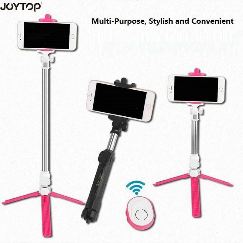 JOYTOP Handheld mini Tripod 3 in 1 Self-portrait Monopod Phone Selfie Stick Bluetooth Remote Shutter Universal Smartphone Selife
