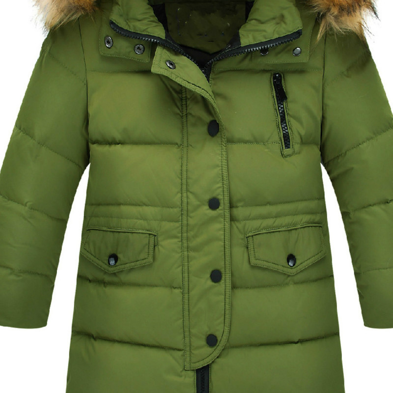 Featherwear Girls Medium Long New Female Large Boy Down Jacket Baby Big Hair Collar Thick Child Winter Warmfashion Down Jacket 2017 new winter fashion women down jacket hooded thick super warm medium long female coat long sleeve slim big yards parkas nz18