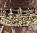 Noble Rey Príncipe Imperial Medieval Coronas para Los Hombres de Oro de Austria Strass Tiara 3.5 ''Arte Deco Pageant Fiesta de Disfraces