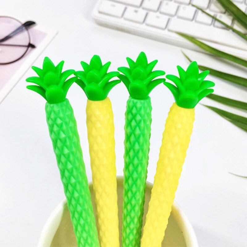 1pcs Pineapple Gel Pen Mm Cute Pens Novelty Stationery Kawaii Pens Student Black Writing Signing Gel Pen Kawaii School Supplies