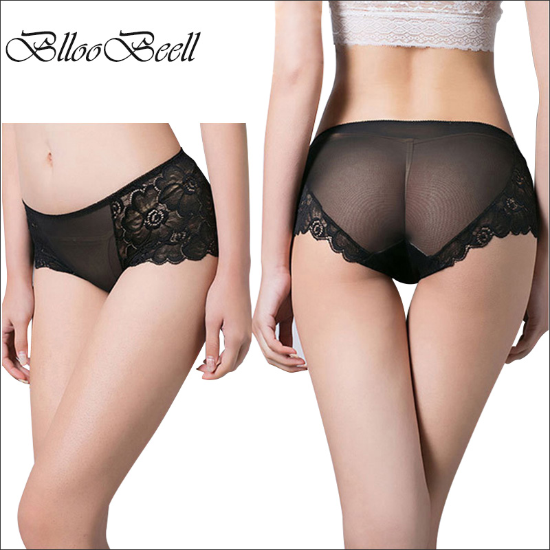BllooBeell Women's Underwear Sexy Lace   Panties   for Women Hollow Out Briefs Mid Rise Female Lingerie Underpants Big Size XXL/XXXL