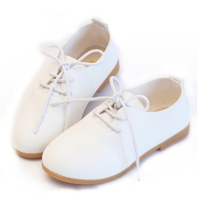 New Unisex Kids Leather Shoes 2018 Girls Boys Casual Shoes Slip-on Soft Breathable Shoe Kids Wedding Party Shoes
