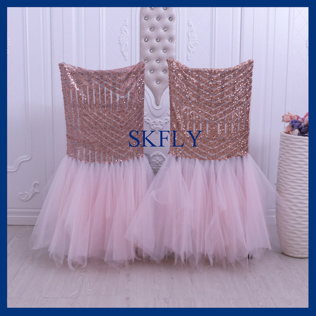 Ch094d New 2018 Rose Gold Pattern Sequin And Blush Pink Tulle Tutu
