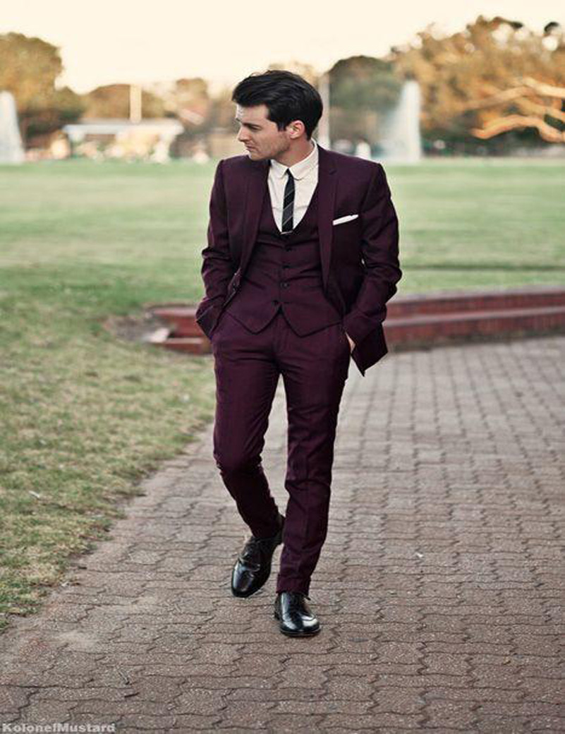Popular Burgundy Suits-Buy Cheap Burgundy Suits lots from China ...