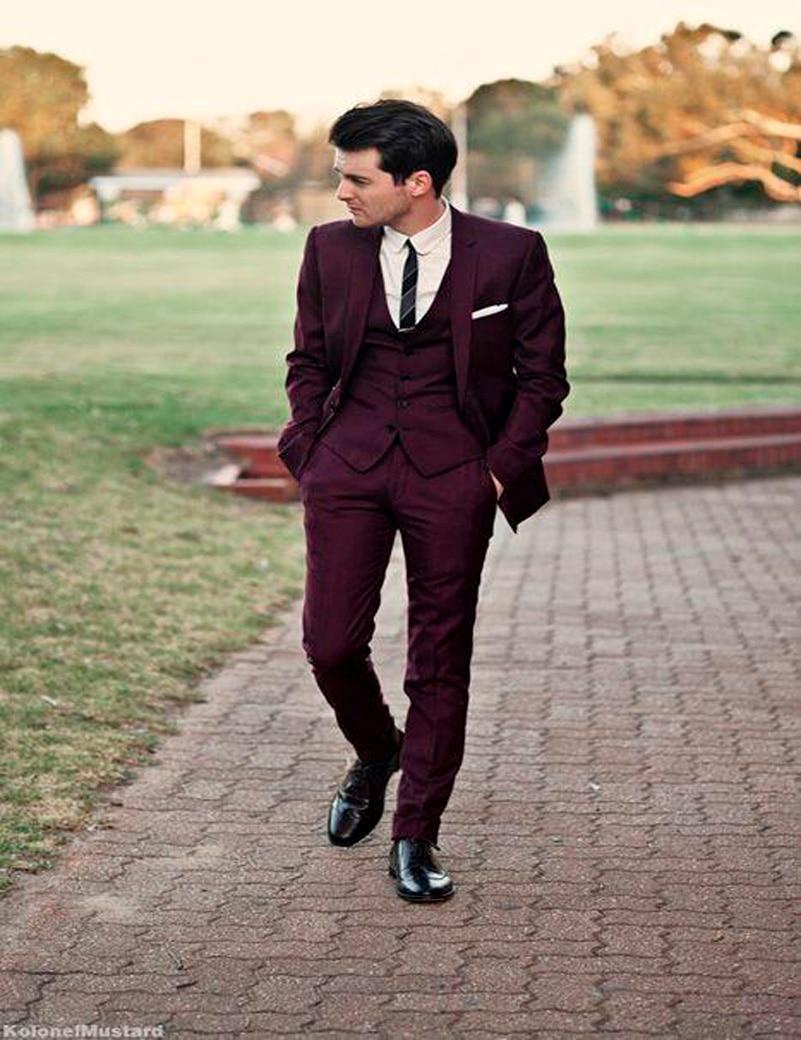 Maroon Mens Suit | My Dress Tip