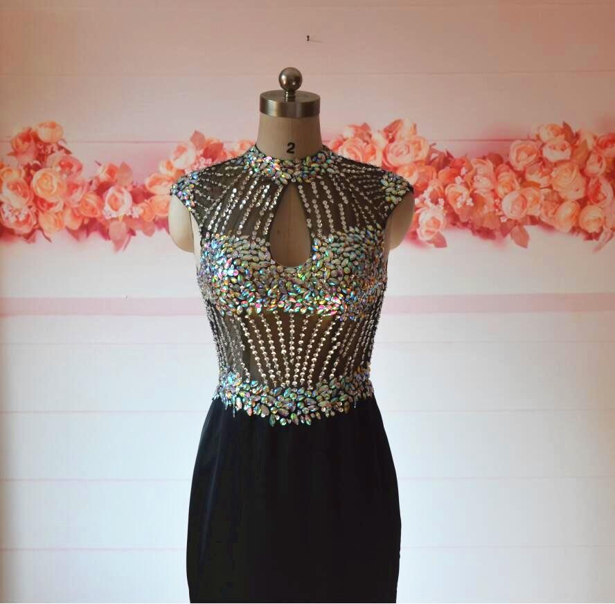 kleider lang elegant Evening Dresses Vestido Longo Preto Evening ...