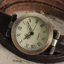 Fashion New Leather Bracelet Watch Women Ultra Long Strap Retro Dial Case Quartz Watch Vintage Dress Reloj Hombre New Clock