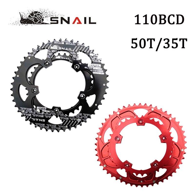 Plateau d'escargot 110BCD 50 T/35 T vélo de route Double anneau de chaîne de vélo ovale 7075-T6 disque de roue de vélo adapté SHIMANO, SRAM, FSA, etc.