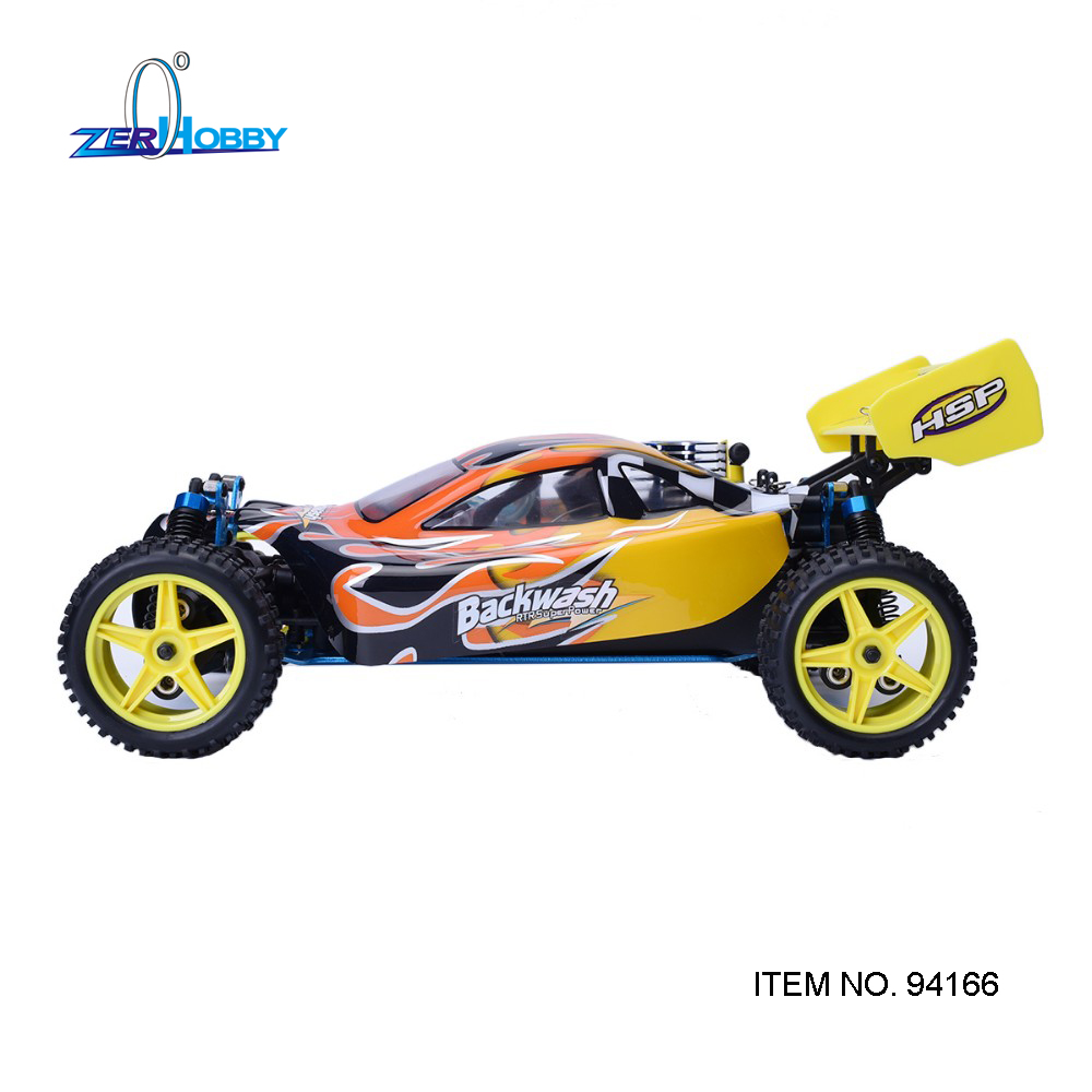 HSP Rc Racing Car 1/10 Scale Nitro Gas Power 4wd Two Speed Off Road Buggy 94166 Backwash High Speed Hobby Rc Remote Control Car hsp rc model car spare part 02023 clutch bell double gears 16t 21t rc 1 10th 4wd truck buggy destrier backwash