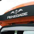 Car Styling Rear Trunk Door Decal Sticker For 2015-2016 Jeep Renegade Car Accessories