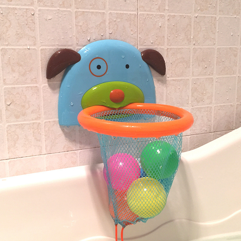 Bath Tub Shooting Basketball Rebounds Toy Water Swimming Water Toys Child's Play Educational for Children Baby Bath Toys children swimming bath toy electric shower spray starfish
