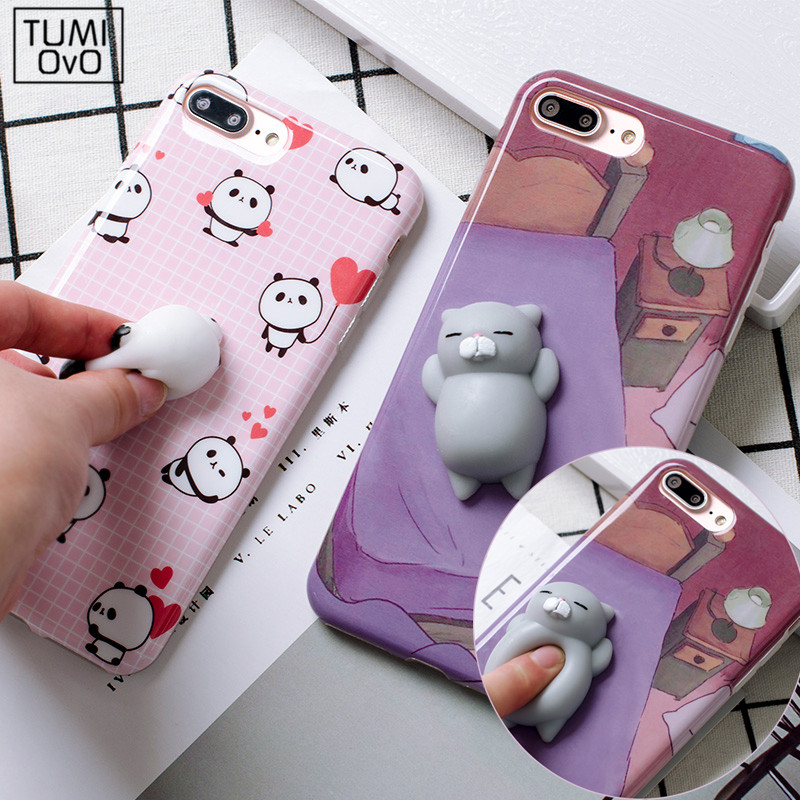 Squishy Bread Iphone 6 Case : 3D Cartoon Cute Soft Silicone Squishy Panda Squishy Cat Fundas Cover Case for iPhone 6 6S 7 Plus ...