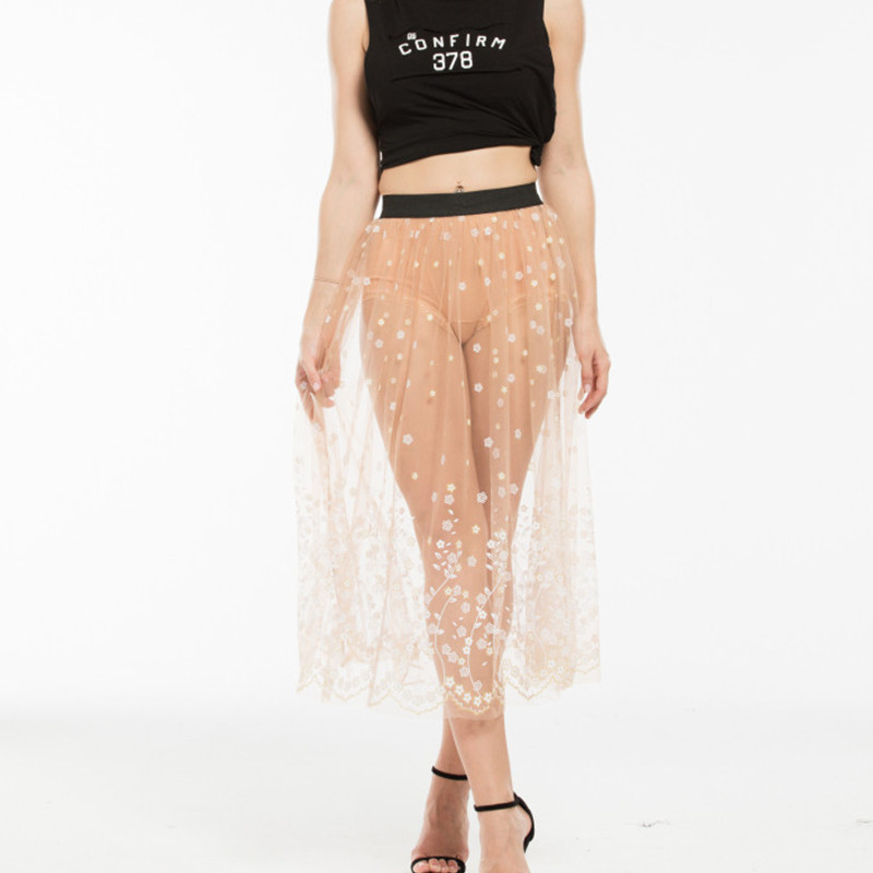 прозрачная юбка вид сзади