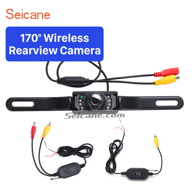 Seicane Universal Wireless Car Reverse Camera Backup Parking Camera Best 2.4G Waterproof Waterproof Night Vision RearView Camera